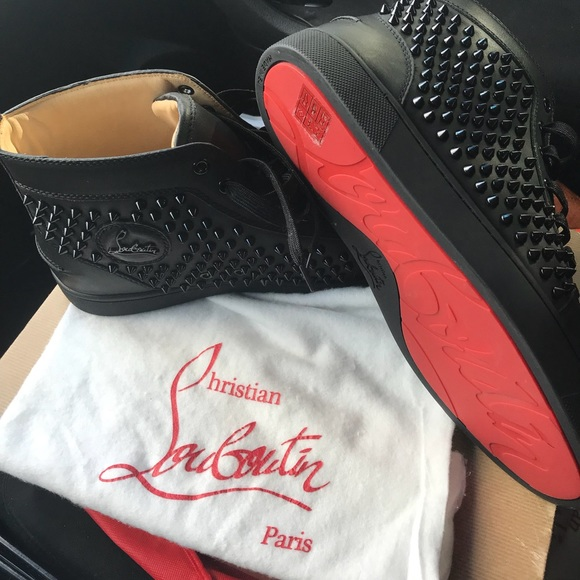 sneakers for cheap 102fe b5004 Black Spike Christian Louboutin Sneakers